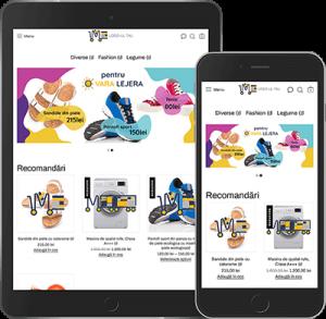 Magazin online pe platforma ecommerce Marketor